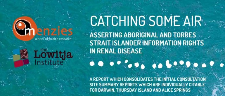 Catching Some Air- Asserting Indigenous Information Rights in Renal Disease