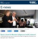 Sport a boost to Menzies Indigenous health research