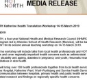 Media Release | HOT NORTH Katherine Health Translation Workshop 14-15 March 2019