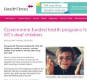Government funded health programs for NT's deaf children