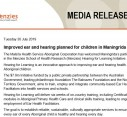 Media Release | Improved ear and hearing planned for children in Maningrida