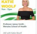 Mix 104.9 Katie Wolf with Professor James Smith