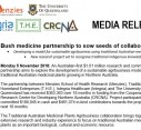 Media Release | Bush medicine partnership to sow seeds of collaboration
