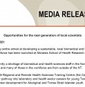 Media Release | Opportunities for the next generation of local scientists