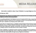 Intervention needed to reduce Type 2 Diabetes in young Indigenous Australians