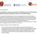 New guidelines to improve assessments for Aboriginal and Torres Strait Islander people presenting to hospital with self-harm and suicidal thoughts