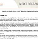 Hearing loss linked to poor school attendance in the Northern Territory